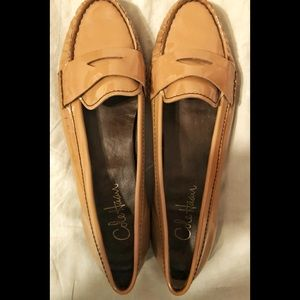 Cole Haan Beige Patent Leather Loafers